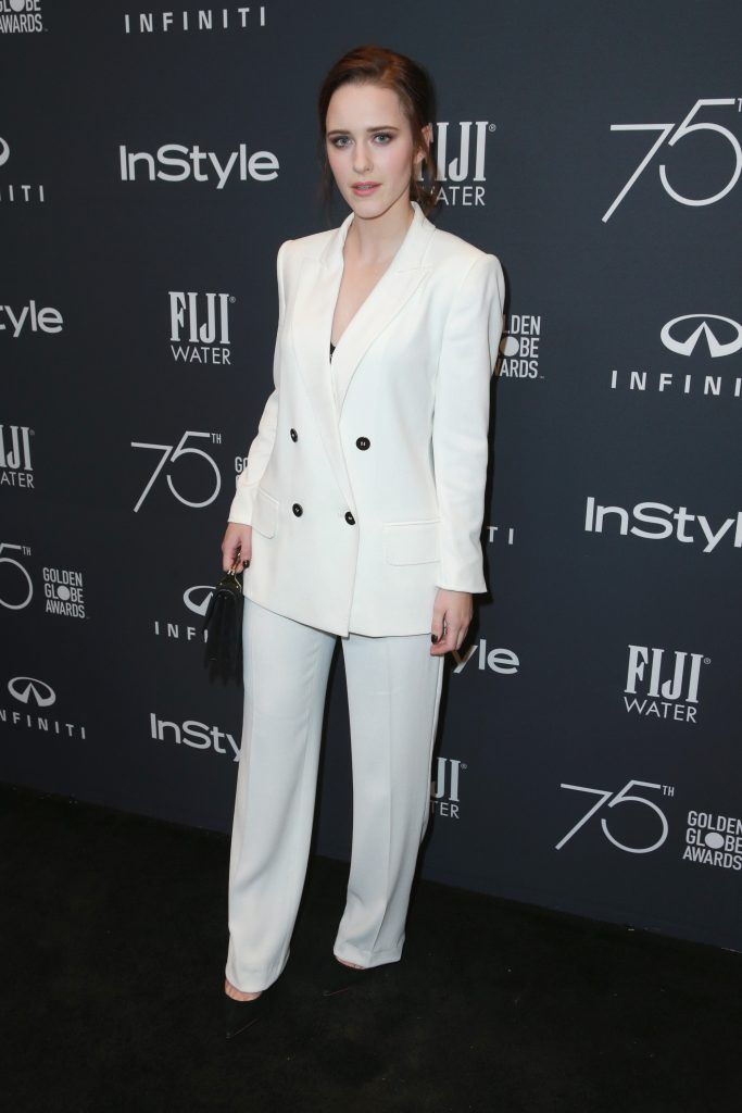 Rachel Brosnahan attends the Hollywood Foreign Press Association and InStyle celebrate the 75th Anniversary of The Golden Globe Awards at Catch LA on November 15, 2017 in West Hollywood, California.  (Photo by Rich Fury/Getty Images)