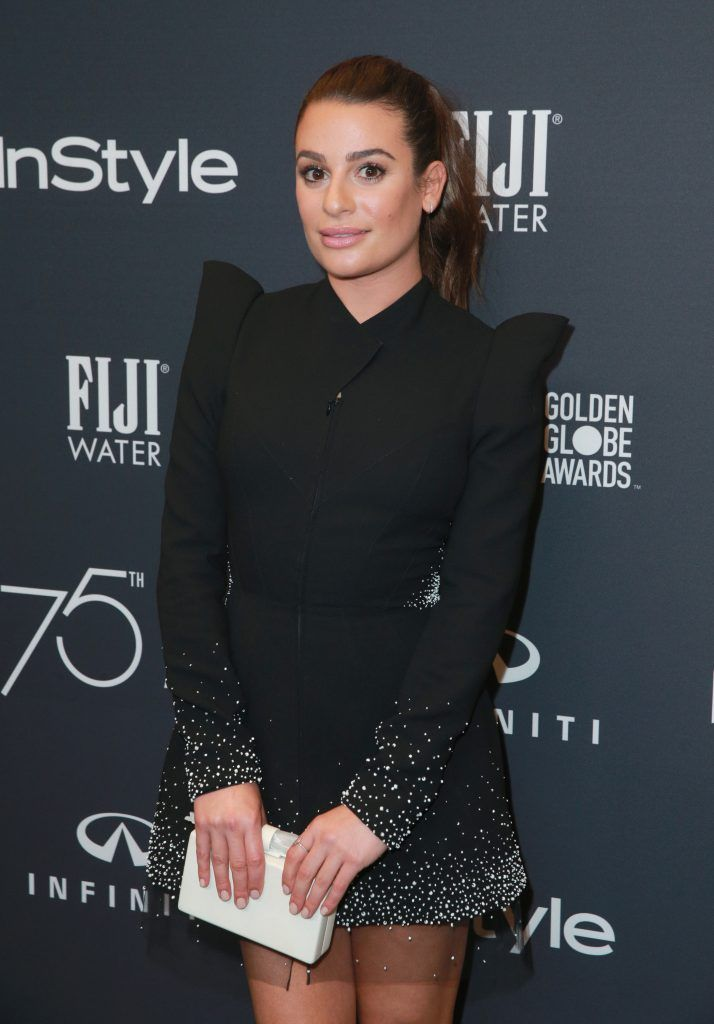 Lea Michele attends the Hollywood Foreign Press Association and InStyle celebrate the 75th Anniversary of The Golden Globe Awards at Catch LA on November 15, 2017 in West Hollywood, California.  (Photo by Rich Fury/Getty Images)