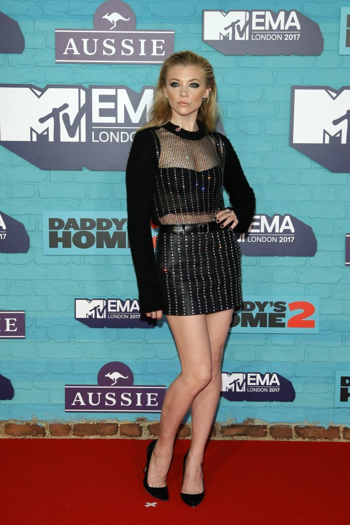 Natalie Dormer attends the MTV EMAs 2017 held at The SSE Arena, Wembley on November 12, 2017 in London, England.  (Photo by Andreas Rentz/Getty Images for MTV)