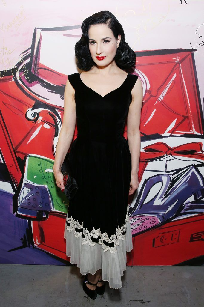 Dita Von Teese attends Christian Louboutin and Sabyasachi Unveil Capsule Collection at Just One Eye on November 16, 2017 in Los Angeles, California.  (Photo by Phillip Faraone/Getty Images for Christian Louboutin)