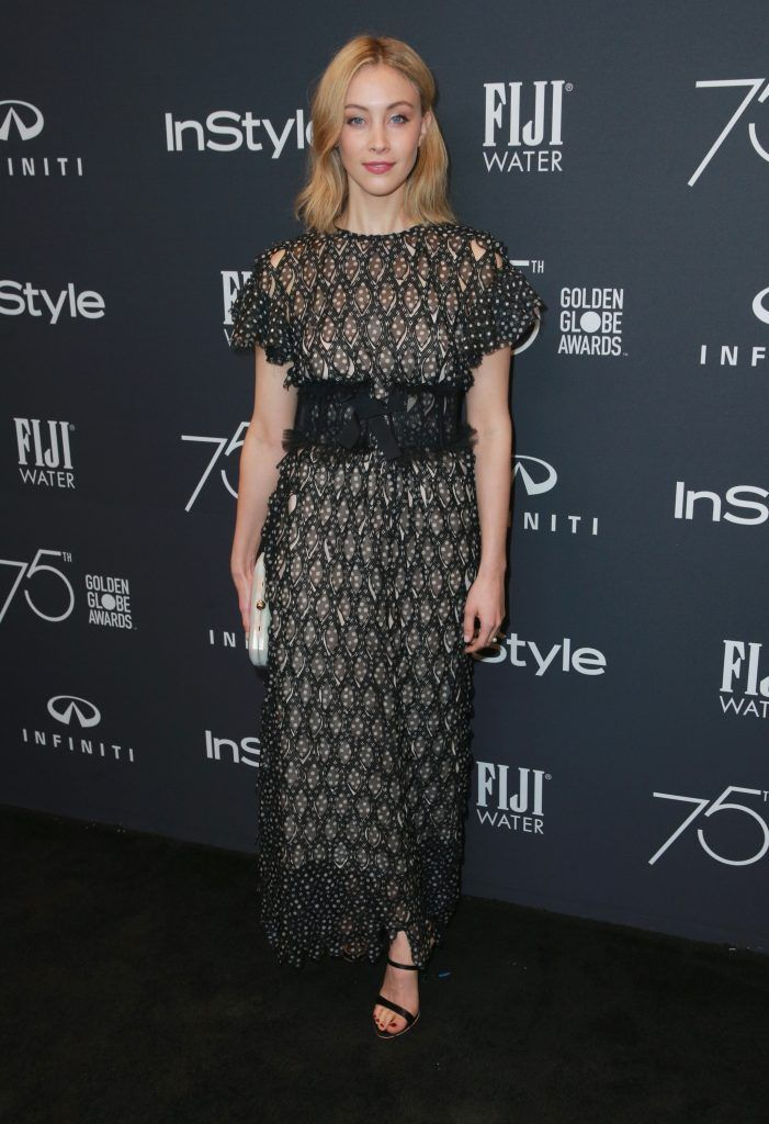 Sarah Gadon attends the Hollywood Foreign Press Association and InStyle celebrate the 75th Anniversary of The Golden Globe Awards at Catch LA on November 15, 2017 in West Hollywood, California.  (Photo by Rich Fury/Getty Images)