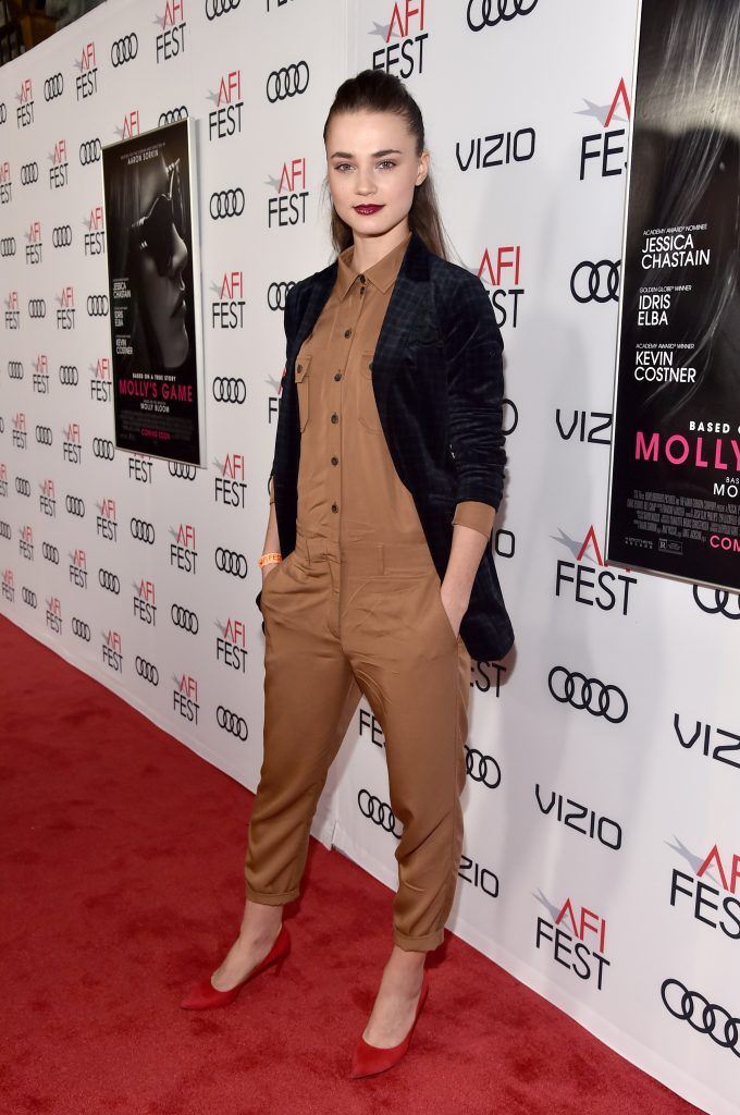 "Veranika Irbis attends the screening of ""Molly's Game"" at the Closing Night Gala at AFI FEST 2017 Presented By Audi at TCL Chinese Theatre on November 16, 2017 in Hollywood, California.  (Photo by Alberto E. Rodriguez/Getty Images for AFI)"