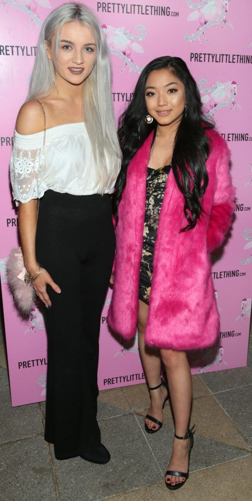 Ciara Whelan and Dee O Farrell pictured at the PrettyLittleThing party at the Opium Rooms, Dublin. Photo: Brian McEvoy