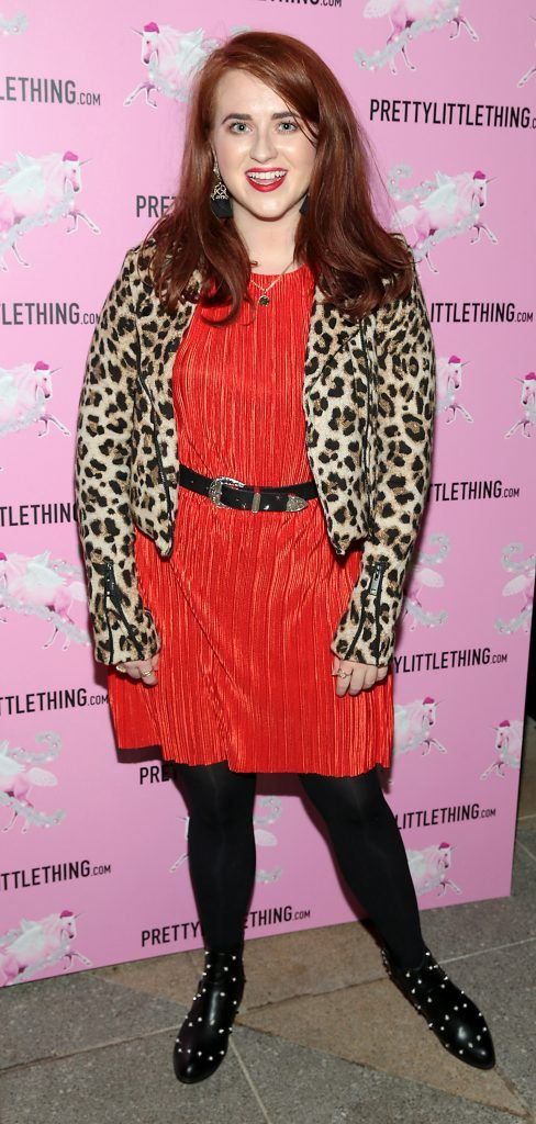 Kate Kelly pictured at the PrettyLittleThing party at the Opium Rooms, Dublin. Photo: Brian McEvoy