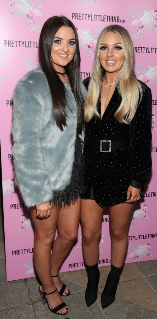 Sarah Kate McWilliams and Debbie McAullife  pictured at the PrettyLittleThing party at the Opium Rooms, Dublin. Photo: Brian McEvoy