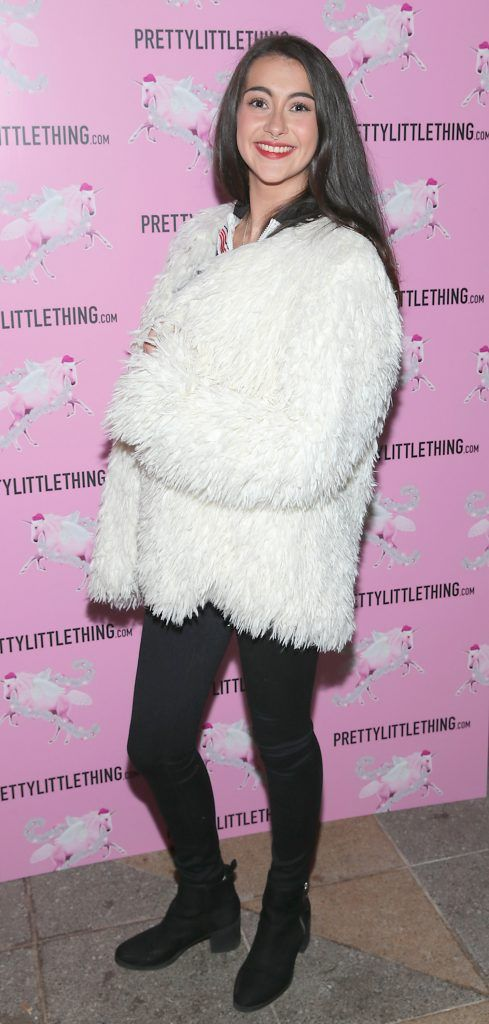 Keeva Kaneswaran pictured at the PrettyLittleThing party at the Opium Rooms, Dublin. Photo: Brian McEvoy