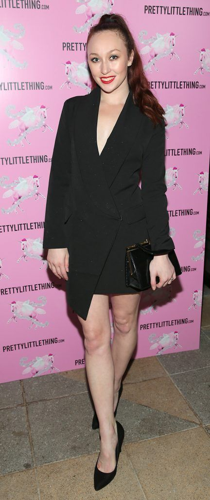 January Winters pictured at the PrettyLittleThing party at the Opium Rooms, Dublin. Photo: Brian McEvoy