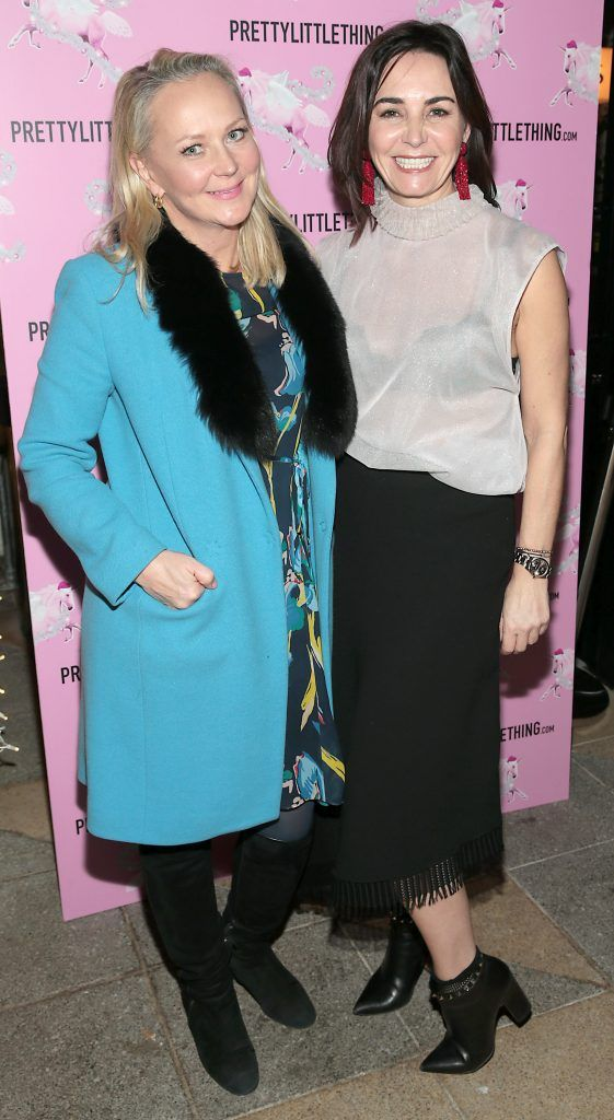 Eva Orsmond and Fiona Gratzer pictured at the PrettyLittleThing party at the Opium Rooms, Dublin. Photo: Brian McEvoy