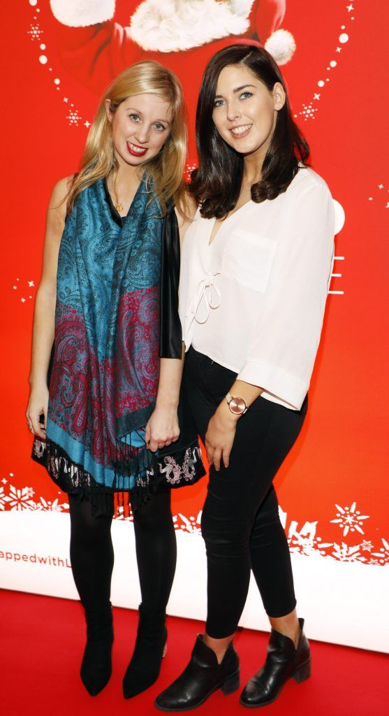 Claire Hyland and Laura McGettigan at Coca-Cola's #wrappedwithlove pop-up shop launch on 6th December 2017 at 57 South William Street, Dublin 2-photo Kieran Harnett