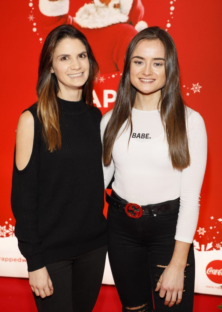 Clodagh Fullston and Keelin Nugent at Coca-Cola's #wrappedwithlove pop-up shop launch on 6th December 2017 at 57 South William Street, Dublin 2-photo Kieran Harnett