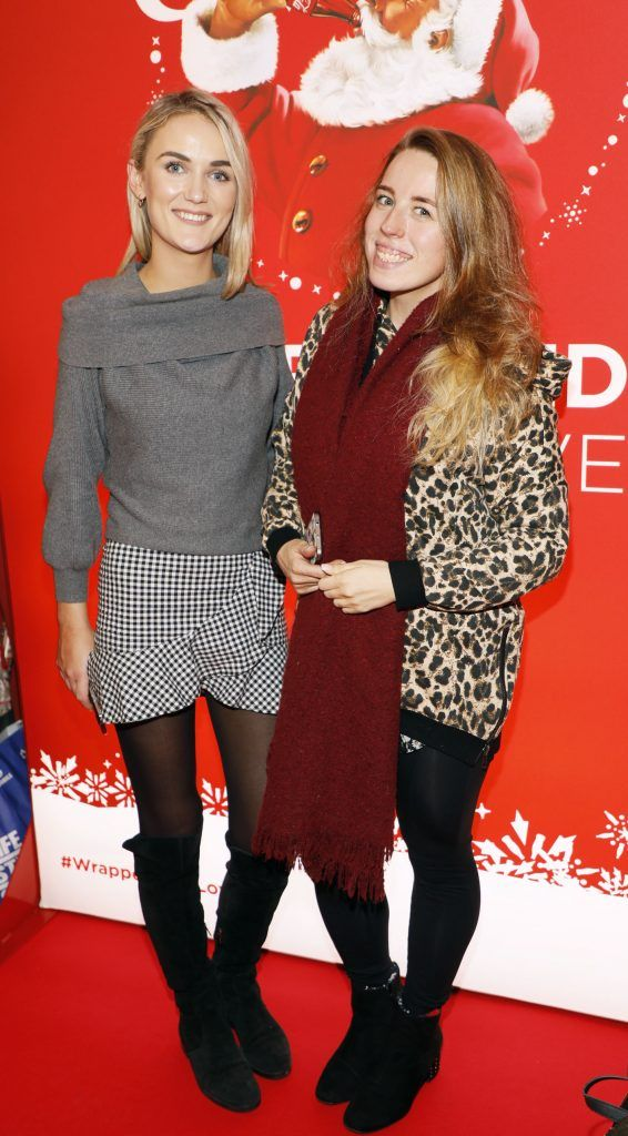 Fiona O'Shea and Dairne Black at Coca-Cola's #wrappedwithlove pop-up shop launch on 6th December 2017 at 57 South William Street, Dublin 2-photo Kieran Harnett
