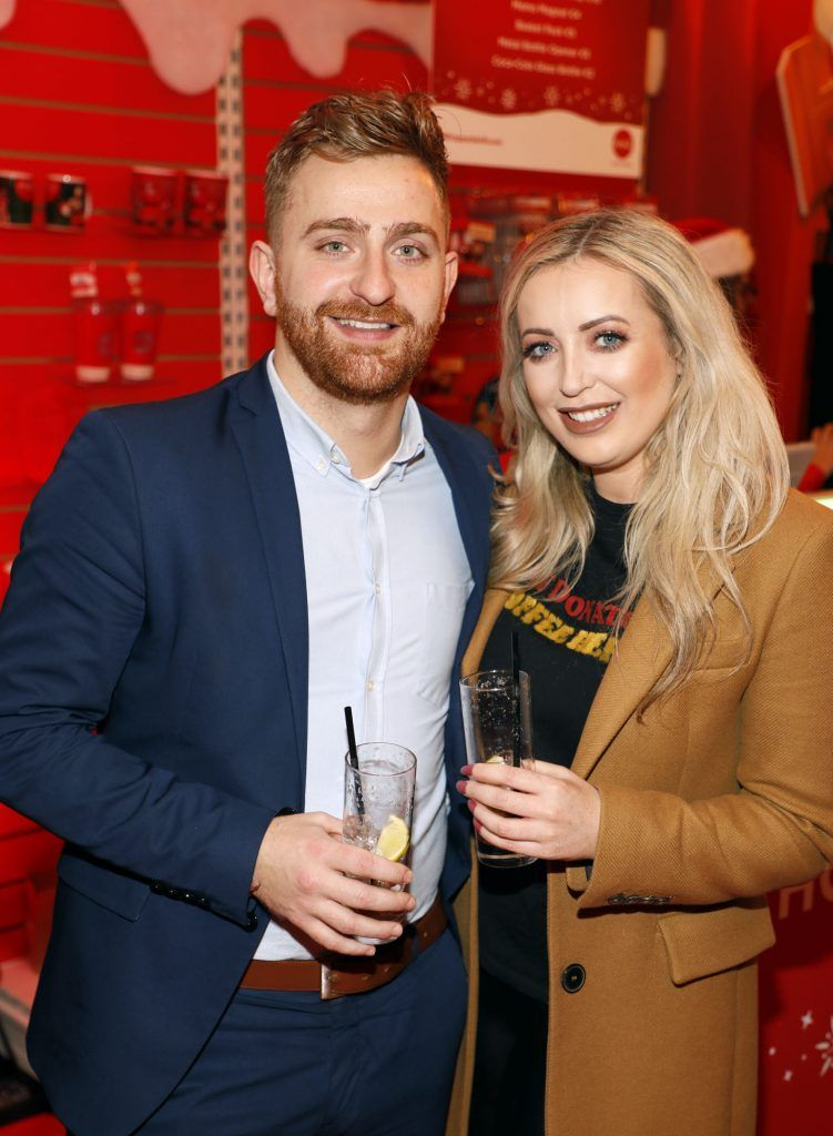Edward Mackey and AJ Fitzsimons at Coca-Cola's #wrappedwithlove pop-up shop launch on 6th December 2017 at 57 South William Street, Dublin 2-photo Kieran Harnett