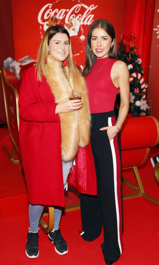 Stephanie Buckley and Erica Bracken at Coca-Cola's #wrappedwithlove pop-up shop launch on 6th December 2017 at 57 South William Street, Dublin 2-photo Kieran Harnett