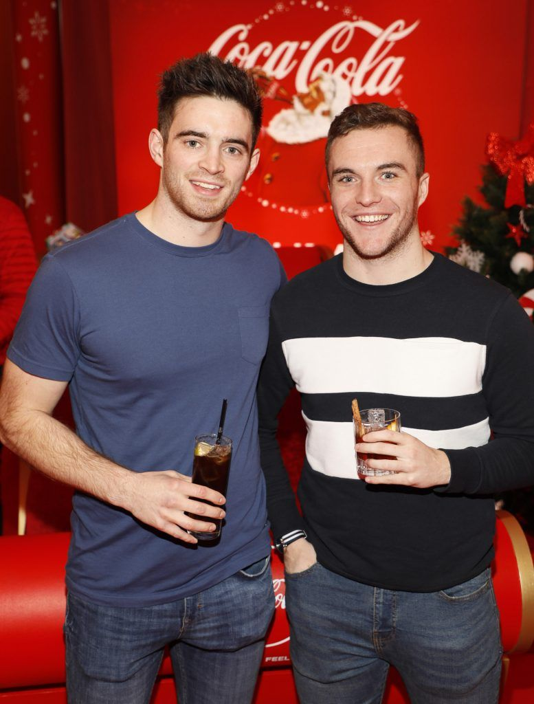Peter Collins and SEan Reidy at Coca-Cola's #wrappedwithlove pop-up shop launch on 6th December 2017 at 57 South William Street, Dublin 2-photo Kieran Harnett