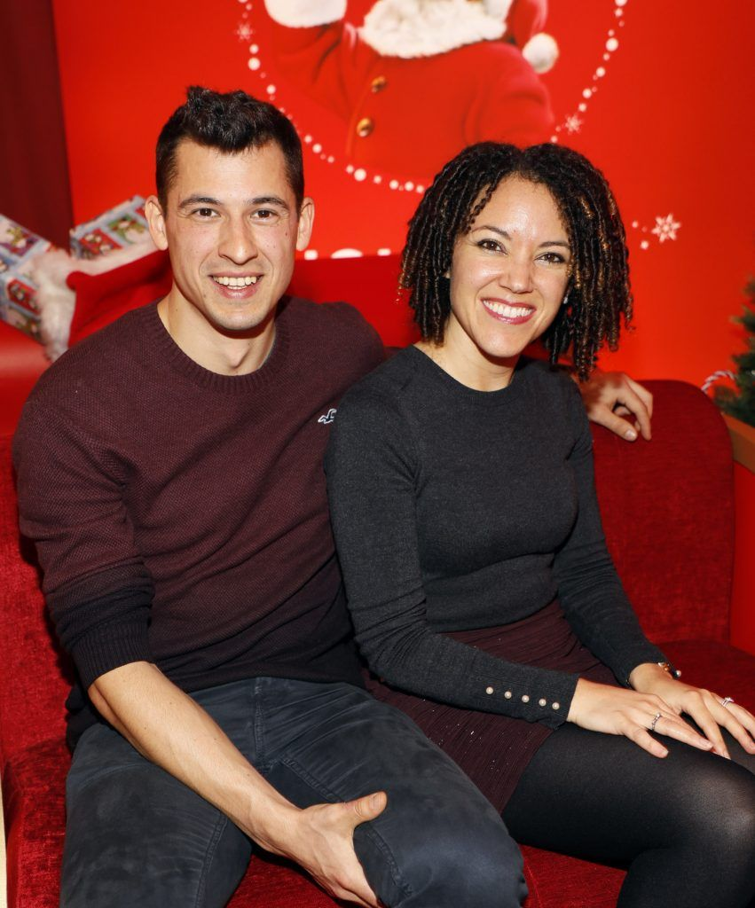 Peter Varga and Maria Eugenia at Coca-Cola's #wrappedwithlove pop-up shop launch on 6th December 2017 at 57 South William Street, Dublin 2-photo Kieran Harnett