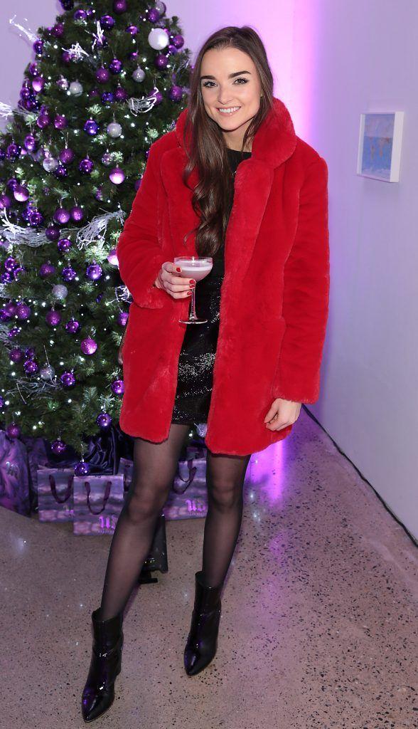 Niamh O Sullivan at the Urban Decay Naked Palette Christmas Celebration at Chancery Lane, Dublin. Photo: Brian McEvoy
