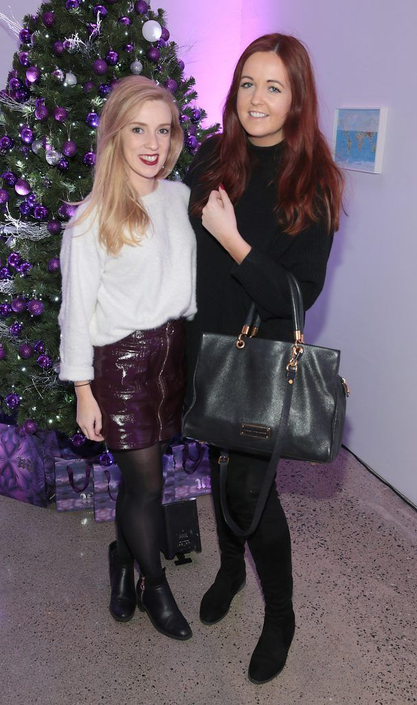 LInda McCarthy and Denise Smith at the Urban Decay Naked Palette Christmas Celebration at Chancery Lane, Dublin. Photo: Brian McEvoy