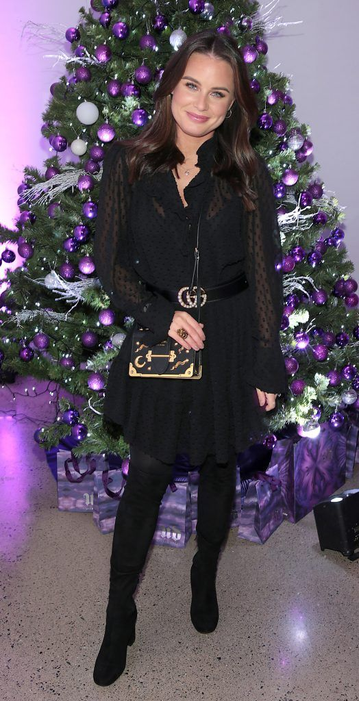 Jodie Wood at the Urban Decay Naked Palette Christmas Celebration at Chancery Lane, Dublin. Photo: Brian McEvoy