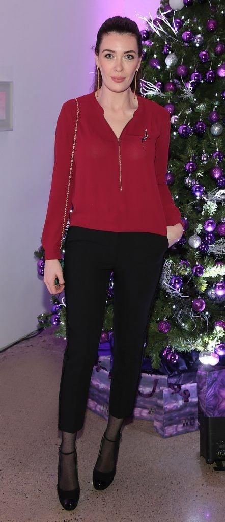 Laura Jayne Halton at the Urban Decay Naked Palette Christmas Celebration at Chancery Lane, Dublin. Photo: Brian McEvoy