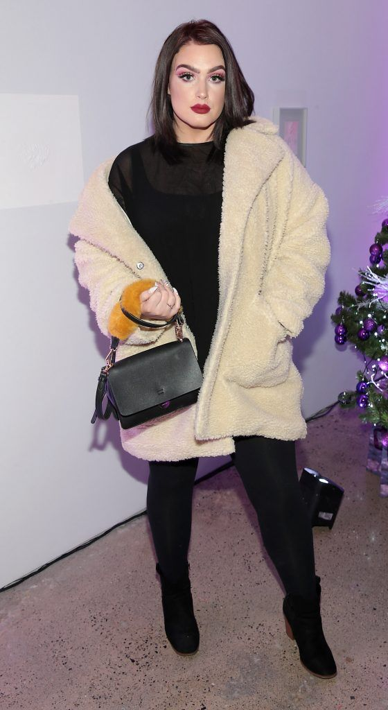 Bella Carr at the Urban Decay Naked Palette Christmas Celebration at Chancery Lane, Dublin. Photo: Brian McEvoy