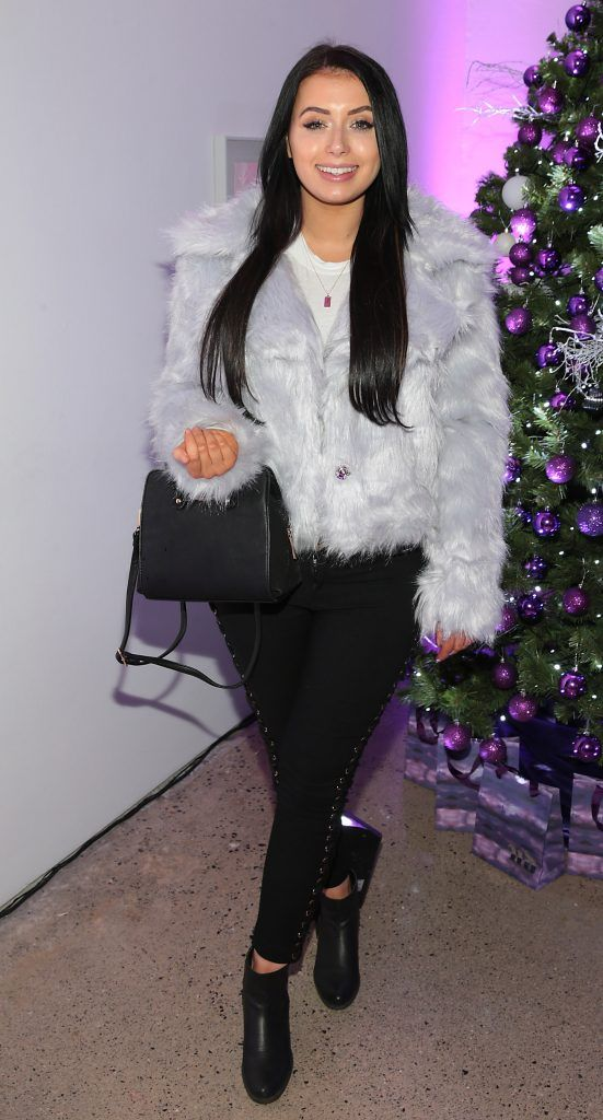 Rachel Martin at the Urban Decay Naked Palette Christmas Celebration at Chancery Lane, Dublin. Photo: Brian McEvoy