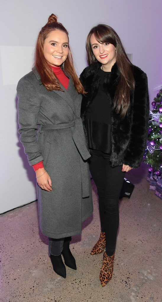 Amy Heffernan and Rebecca Brennan at the Urban Decay Naked Palette Christmas Celebration at Chancery Lane, Dublin. Photo: Brian McEvoy