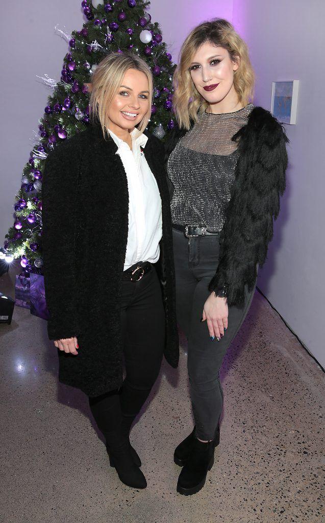 Danielle Mahon and Fabiana Coppolla at the Urban Decay Naked Palette Christmas Celebration at Chancery Lane, Dublin. Photo: Brian McEvoy