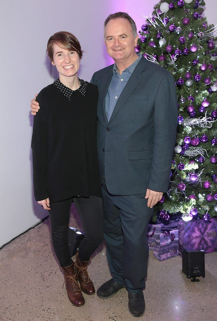 Kirsty Blake Knox and Ken Sweeney at the Urban Decay Naked Palette Christmas Celebration at Chancery Lane, Dublin. Photo: Brian McEvoy