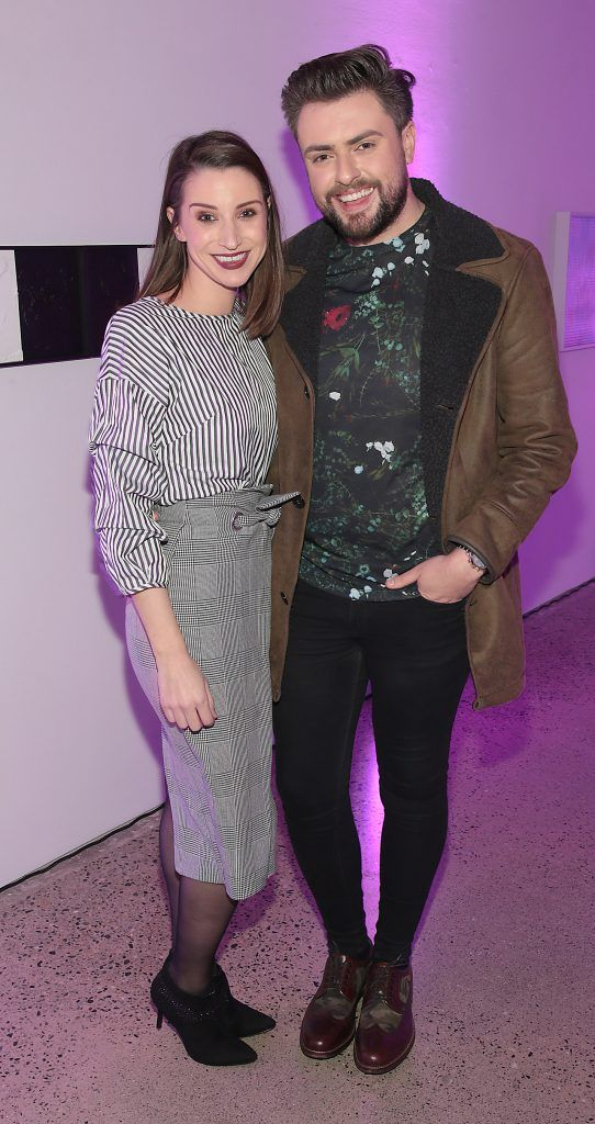 Dearbhla Keenan and James Patrice Butler at the Urban Decay Naked Palette Christmas Celebration at Chancery Lane, Dublin. Photo: Brian McEvoy