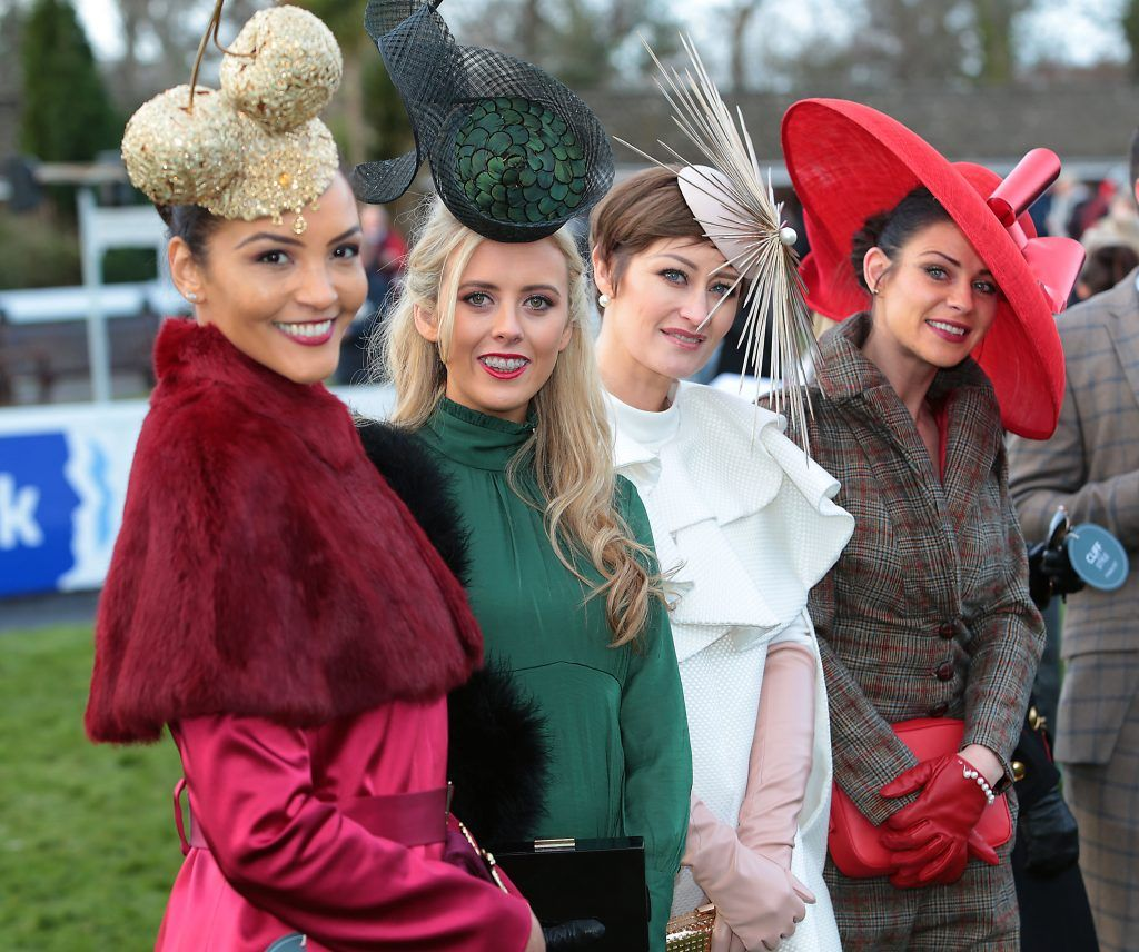 Finalists at the Cliff Style awards at the Leopardstown Christmas Racing Festival 2017. Photo: Brian McEvoy