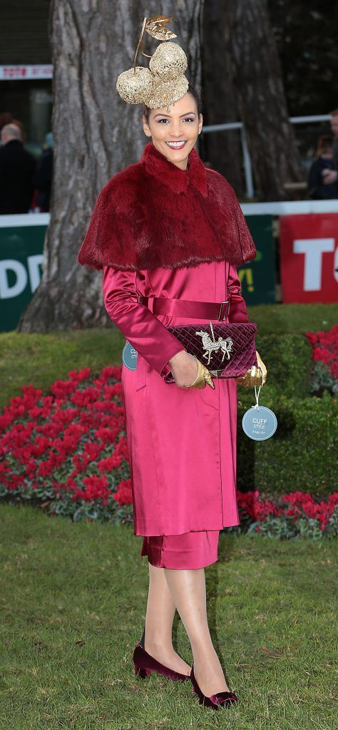 Linda Malone - Finalist in the Most Stylish Lady Competition at the Cliff Style awards at the Leopardstown Christmas Racing Festival 2017. Photo: Brian McEvoy