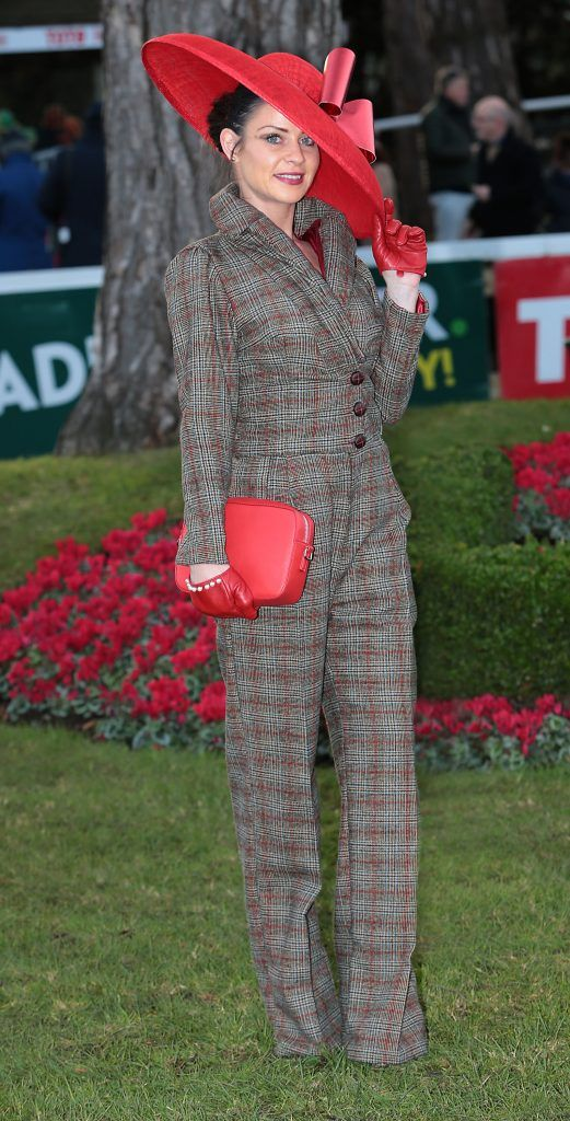Anna Maguire - Finalist in the Most Stylish Lady Competition at the Cliff Style awards at the Leopardstown Christmas Racing Festival 2017. Photo: Brian McEvoy