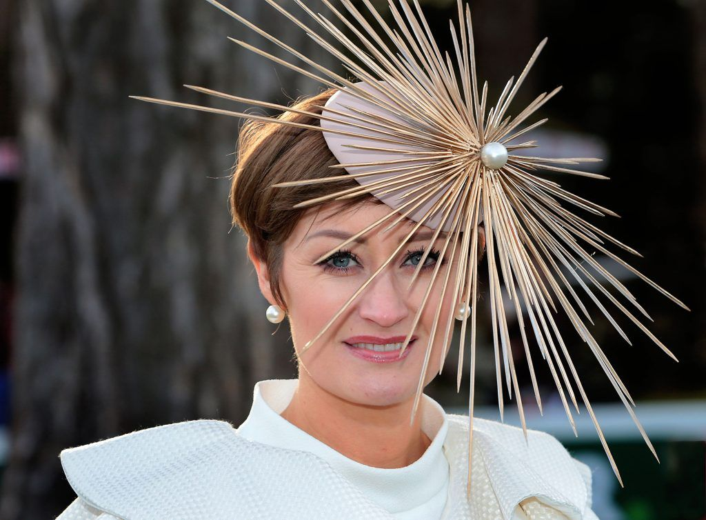 Laura Hanlon - Finalist in the Most Stylish Lady Competition at the Cliff Style awards at the Leopardstown Christmas Racing Festival 2017. Photo: Brian McEvoy