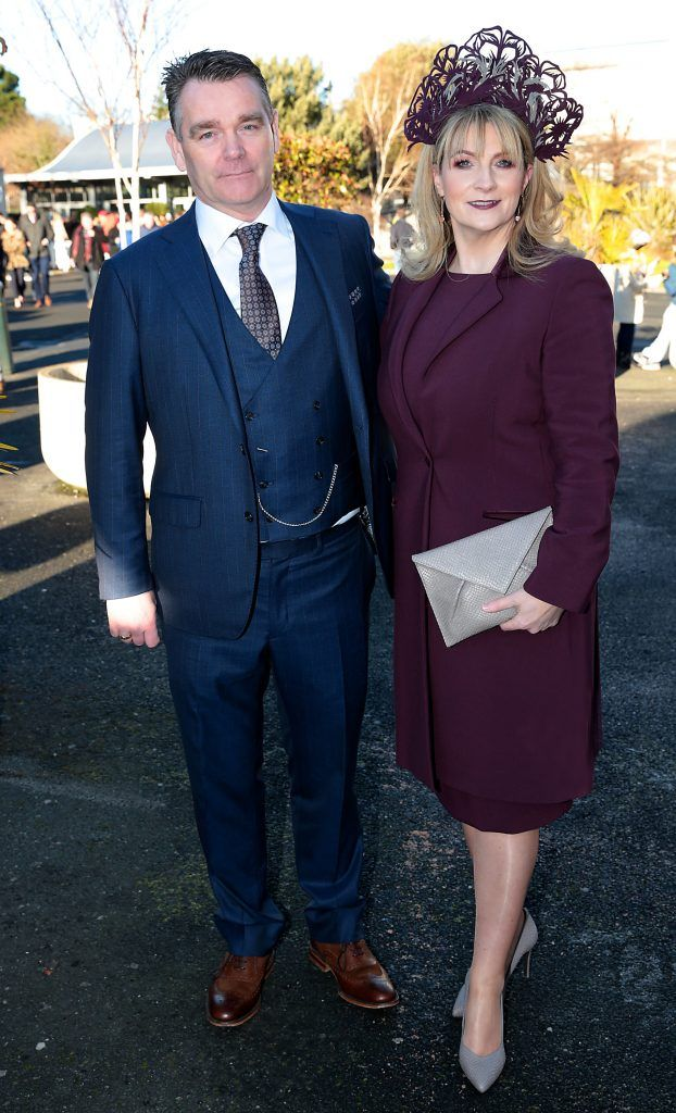 Ted Kennedy and Angela Kennedy at the Cliff Style awards at the Leopardstown Christmas Racing Festival 2017. Photo: Brian McEvoy
