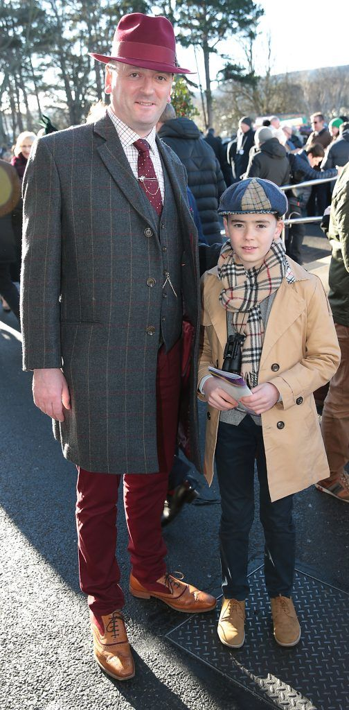 Pat Gilbourne and Ray Gilbourne at the Cliff Style awards at the Leopardstown Christmas Racing Festival 2017. Photo: Brian McEvoy
