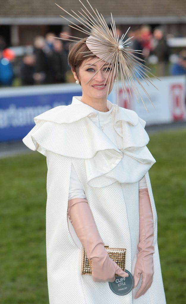 Finalist Laura Hanlon at the Cliff Style awards at the Leopardstown Christmas Racing Festival 2017. Photo: Brian McEvoy