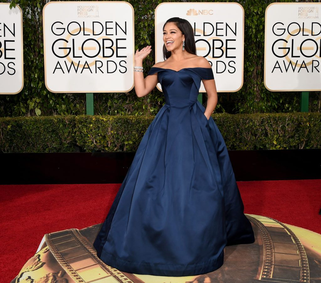 BEVERLY HILLS, CA - JANUARY 10:  Actress Gina Rodriguez attends the 73rd Annual Golden Globe Awards held at the Beverly Hilton Hotel on January 10, 2016 in Beverly Hills, California.  (Photo by Jason Merritt/Getty Images)