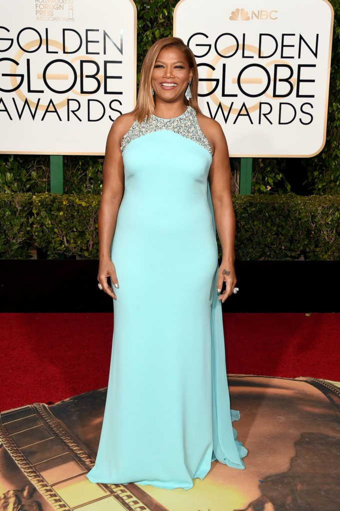 BEVERLY HILLS, CA - JANUARY 10:  Actress Queen Latifah attends the 73rd Annual Golden Globe Awards held at the Beverly Hilton Hotel on January 10, 2016 in Beverly Hills, California.  (Photo by Jason Merritt/Getty Images)