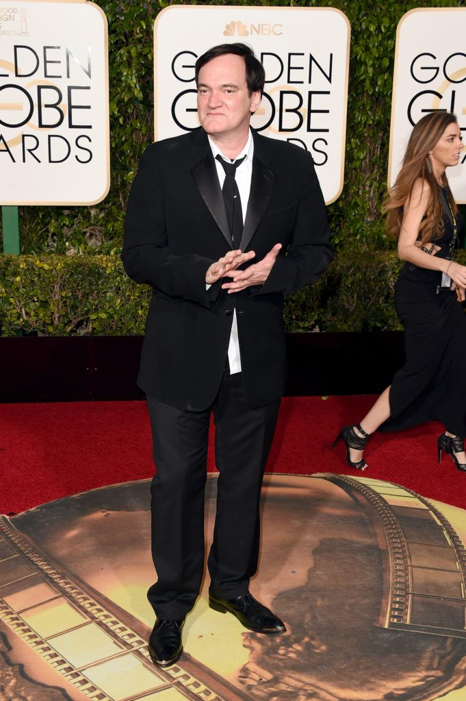 BEVERLY HILLS, CA - JANUARY 10:  Director Quentin Tarantino attends the 73rd Annual Golden Globe Awards held at the Beverly Hilton Hotel on January 10, 2016 in Beverly Hills, California.  (Photo by Jason Merritt/Getty Images)
