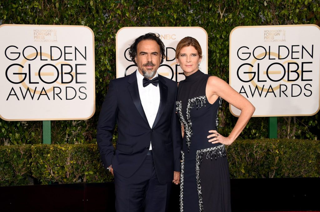 BEVERLY HILLS, CA - JANUARY 10:  Writer/director Alejandro Gonzalez Inarritu (L) and Maria Eladia attend the 73rd Annual Golden Globe Awards held at the Beverly Hilton Hotel on January 10, 2016 in Beverly Hills, California.  (Photo by Jason Merritt/Getty Images)
