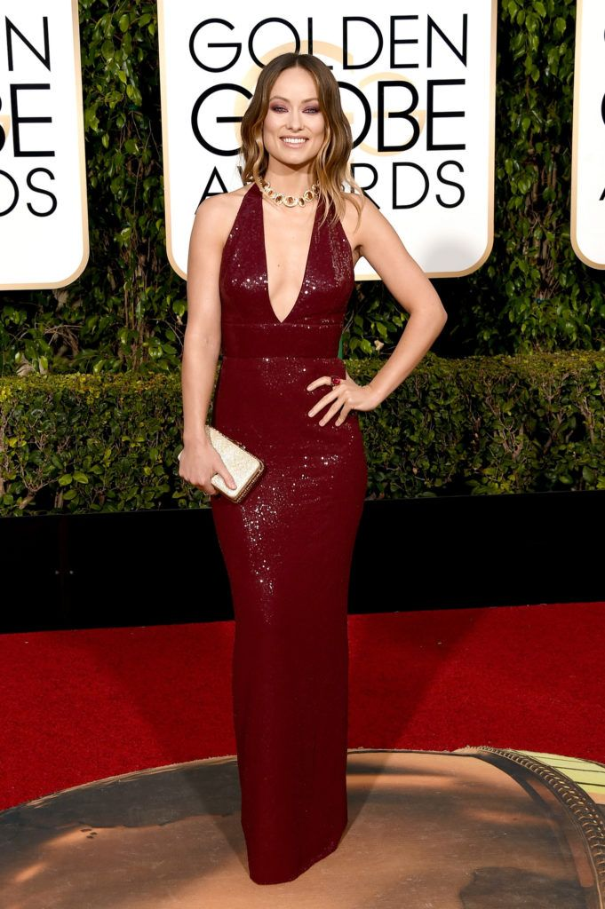 BEVERLY HILLS, CA - JANUARY 10:  Actress Olivia Wilde attends the 73rd Annual Golden Globe Awards held at the Beverly Hilton Hotel on January 10, 2016 in Beverly Hills, California.  (Photo by Jason Merritt/Getty Images)