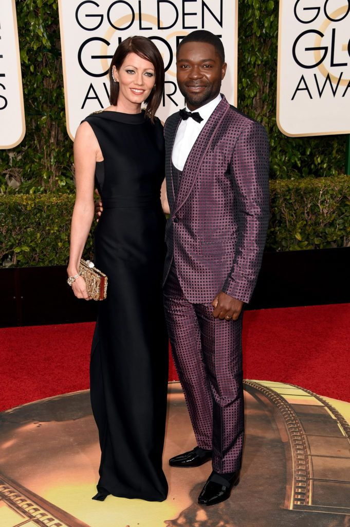 BEVERLY HILLS, CA - JANUARY 10:  Actor David Oyelowo (R) and Jessica Oyelowo attend the 73rd Annual Golden Globe Awards held at the Beverly Hilton Hotel on January 10, 2016 in Beverly Hills, California.  (Photo by Jason Merritt/Getty Images)