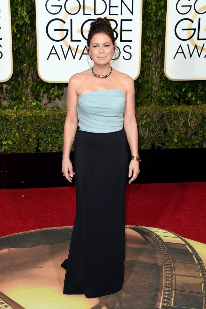 BEVERLY HILLS, CA - JANUARY 10:  Actress Maura Tierney attends the 73rd Annual Golden Globe Awards held at the Beverly Hilton Hotel on January 10, 2016 in Beverly Hills, California.  (Photo by Jason Merritt/Getty Images)