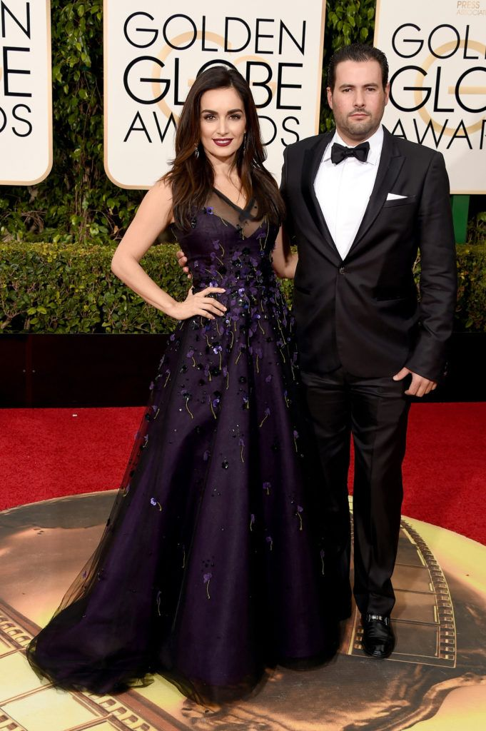 BEVERLY HILLS, CA - JANUARY 10:  Actress Ana de la Reguera (L) attends the 73rd Annual Golden Globe Awards held at the Beverly Hilton Hotel on January 10, 2016 in Beverly Hills, California.  (Photo by Jason Merritt/Getty Images)