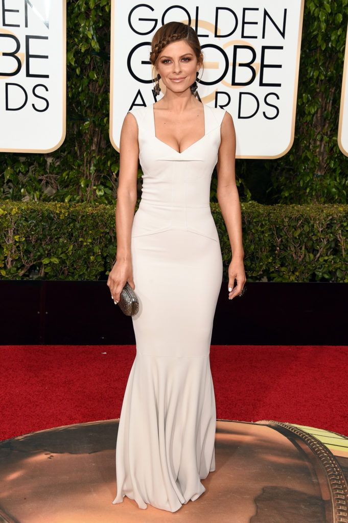 BEVERLY HILLS, CA - JANUARY 10:  TV personality Maria Menounos attends the 73rd Annual Golden Globe Awards held at the Beverly Hilton Hotel on January 10, 2016 in Beverly Hills, California.  (Photo by Jason Merritt/Getty Images)