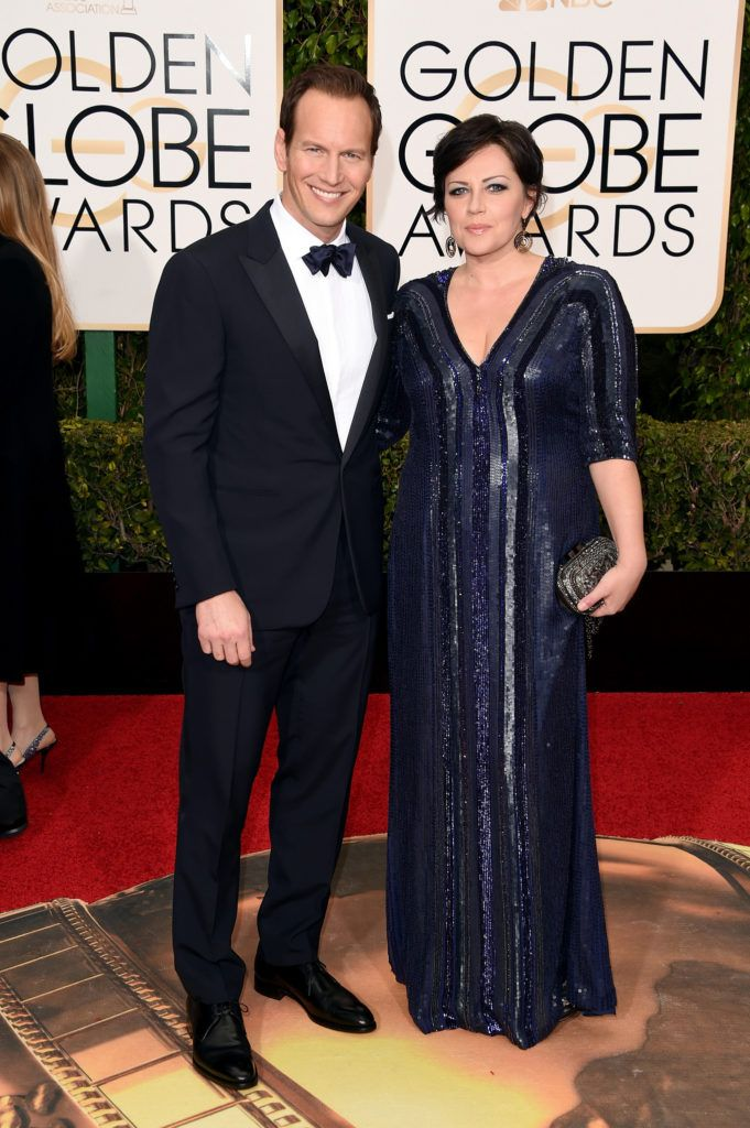 BEVERLY HILLS, CA - JANUARY 10:  Actor Patrick Wilson and Dagmara Dominczyk attend the 73rd Annual Golden Globe Awards held at the Beverly Hilton Hotel on January 10, 2016 in Beverly Hills, California.  (Photo by Jason Merritt/Getty Images)
