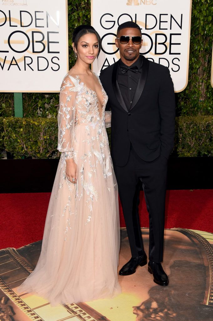 BEVERLY HILLS, CA - JANUARY 10:  Miss Golden Globe Corinne Foxx and actor Jamie Foxx attend the 73rd Annual Golden Globe Awards held at the Beverly Hilton Hotel on January 10, 2016 in Beverly Hills, California.  (Photo by Jason Merritt/Getty Images)