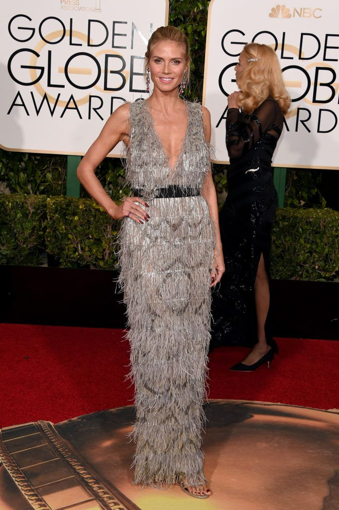 BEVERLY HILLS, CA - JANUARY 10:  Model Heidi Klum attends the 73rd Annual Golden Globe Awards held at the Beverly Hilton Hotel on January 10, 2016 in Beverly Hills, California.  (Photo by Jason Merritt/Getty Images)