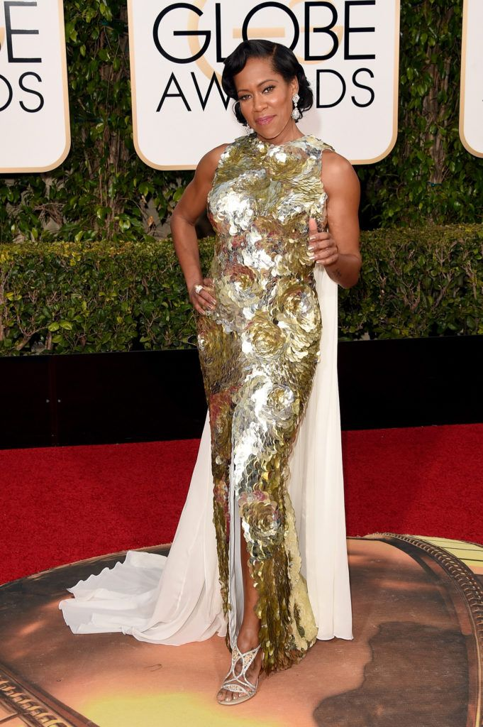 BEVERLY HILLS, CA - JANUARY 10:  Actress Regina King attends the 73rd Annual Golden Globe Awards held at the Beverly Hilton Hotel on January 10, 2016 in Beverly Hills, California.  (Photo by Jason Merritt/Getty Images)