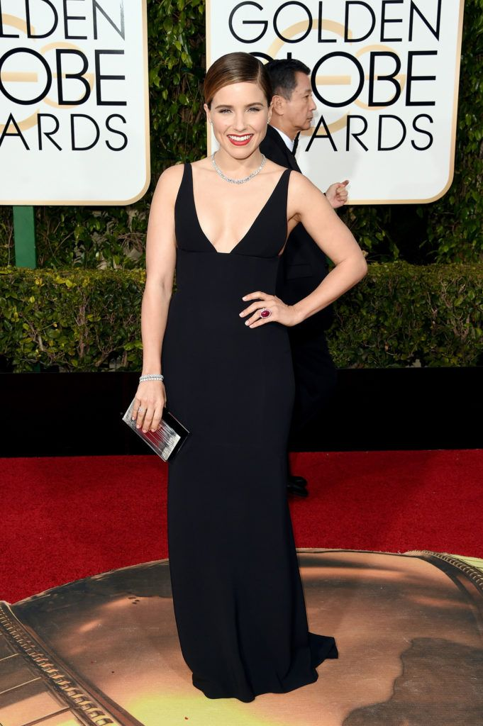 BEVERLY HILLS, CA - JANUARY 10:  Actress Sophia Bush attends the 73rd Annual Golden Globe Awards held at the Beverly Hilton Hotel on January 10, 2016 in Beverly Hills, California.  (Photo by Jason Merritt/Getty Images)